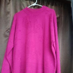 Womens sweater pink. Size 20W.